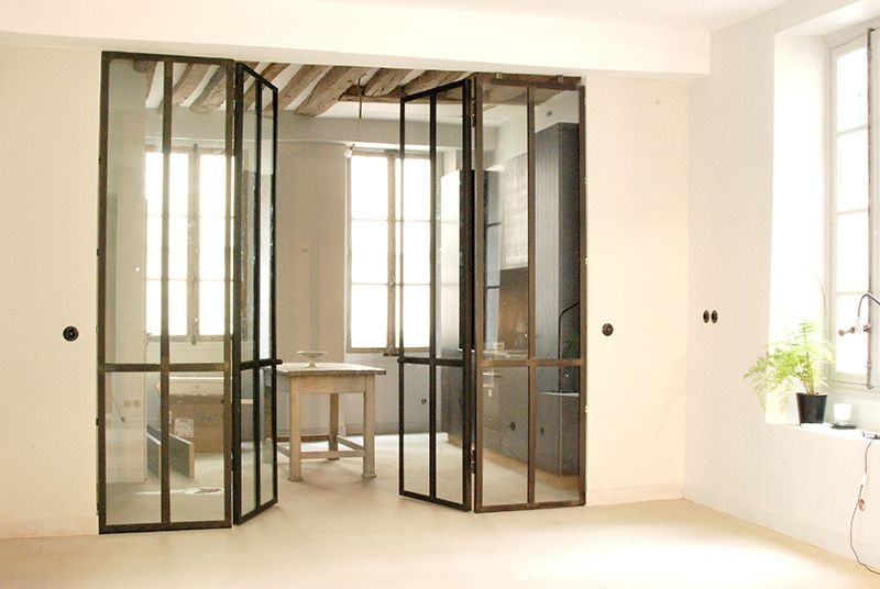 Verri re int rieure double portes les ateliers du 4 for Porte interieur double