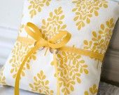 Country Yellow Ringbearer Pillow Country Wedding Inspiration Ring Pillow Wedding Wedding Inspiration