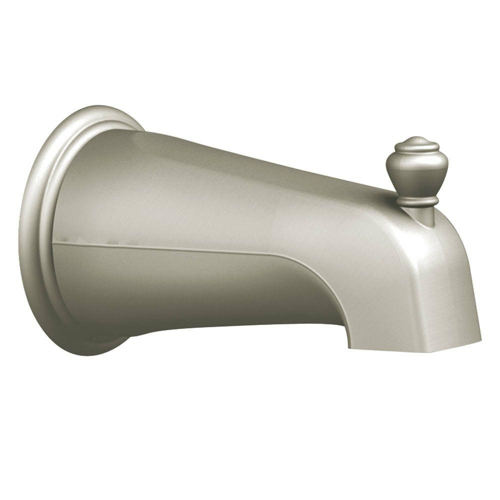 Moen Diverter Spout In Brushed Nickel 3807bn Clawfoot Tub Faucet