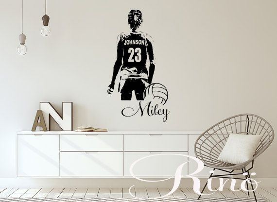 Volleyball wall art large volley ball player vinyl decal