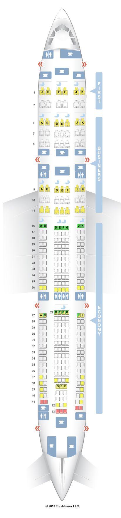 Seatguru Seat Map Emirates Airbus A340 300 343 Emirates Airbus