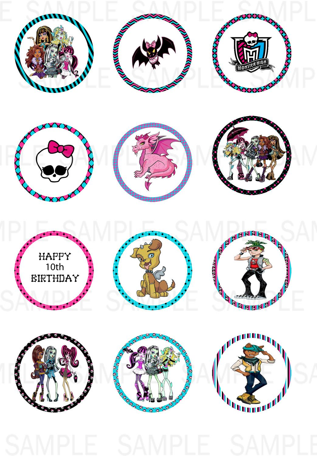 Printables Monster High