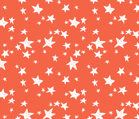 Stars - Coral by Andrea Lauren fabric by andrea_lauren on Spoonflower - custom fabric