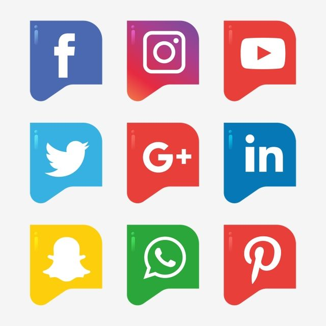 Social Media Icons Set Logo Vector Illustrator Social