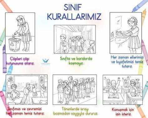 1sınıf Kuralları Boyama Ile Ilgili Görsel Sonucu Okul