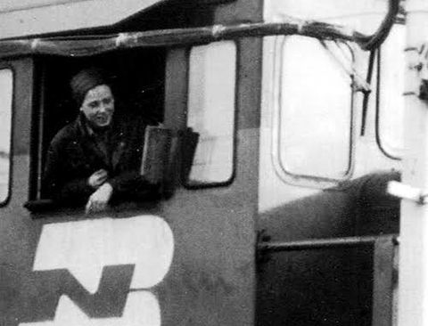 Ramona Dockter, the first U S  woman to become a freight