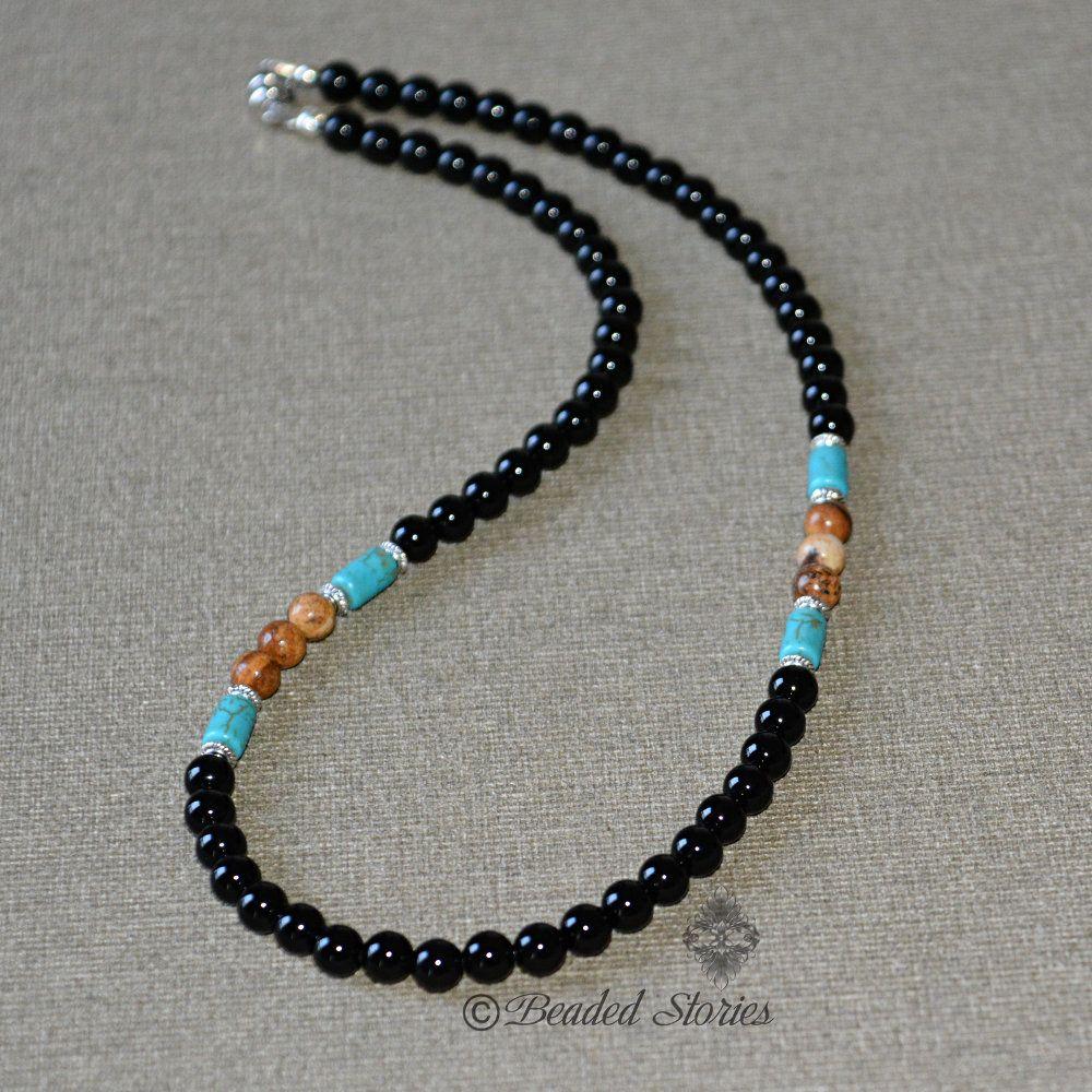 choker natural stones Necklace for men black onyx Gift for men Boyfriend gift For him For Guys Gift For Dad Black choker Men jewelry