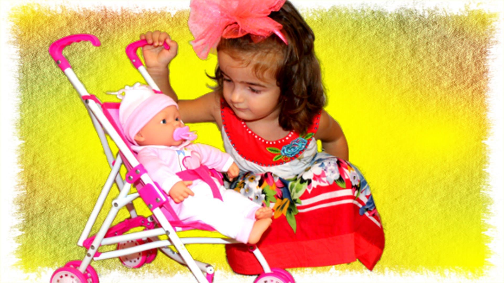MAIA Baby Doll Stroller Change Diaper Lunch Time Video for