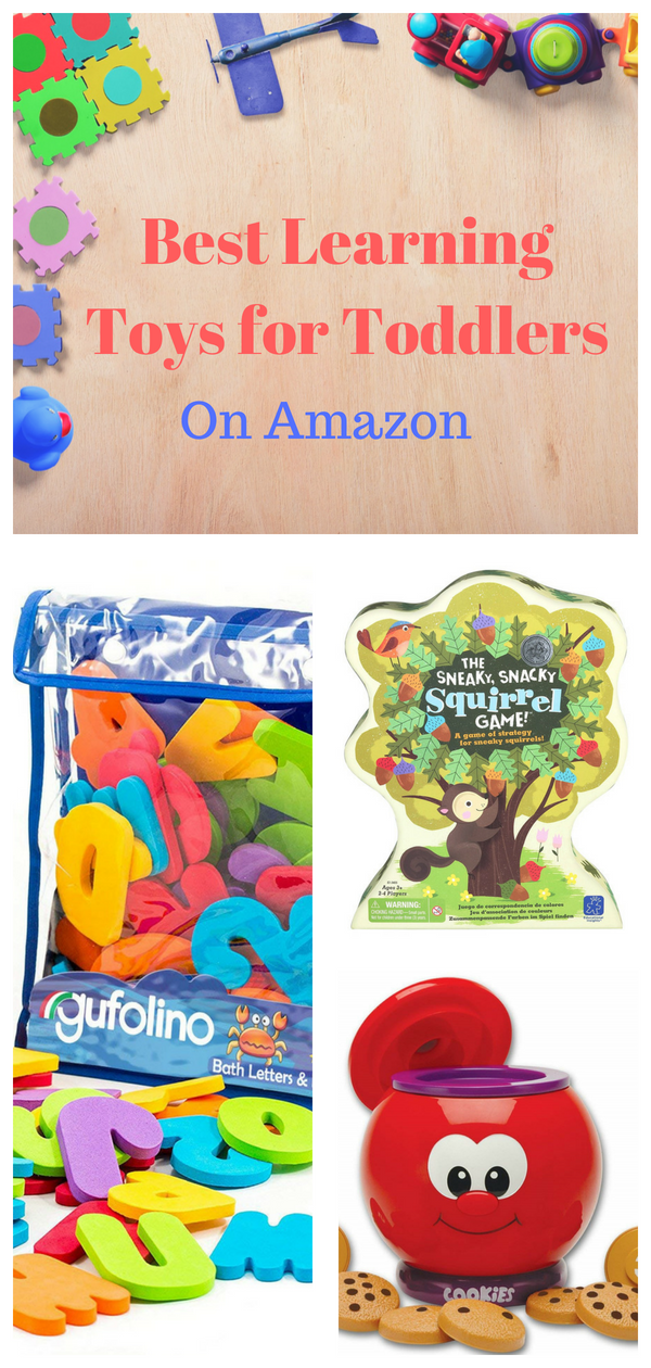Best Learning Toys For Toddlers All Of These Toys Can Be Found On Amazon And Most Are Under 20 Lear Learning Toys For Toddlers Learning Toys Toddler Toys