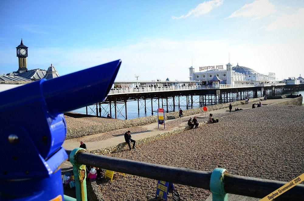 Brighton Beach, England | via It's Travel O'Clock