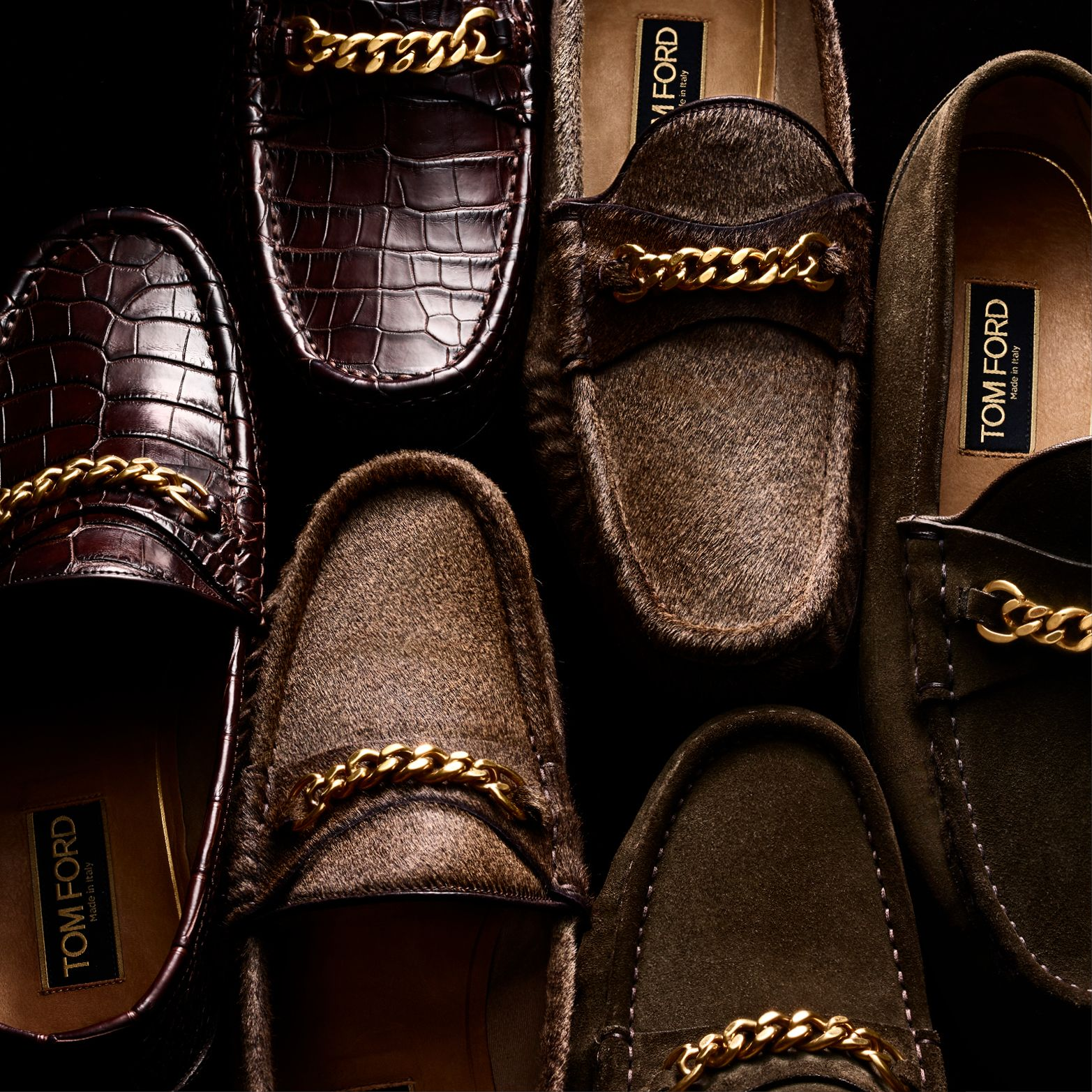 41f55e4ccab52 Iconic York Chain Loafers - available in various colors and materials.  #TOMFORD