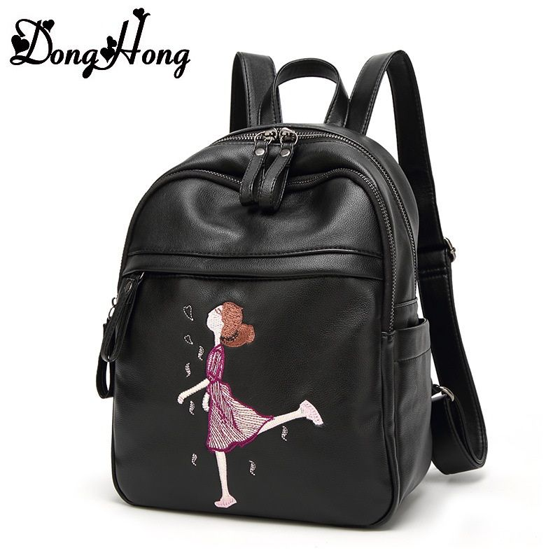 Women Genuine Leather Backpack Fashion Pattern Girl Leather School Bag For Teenager  Female Travel Bag Mochila 4ba2a8af0ffbe