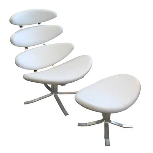 Groovy Corona Chair And Ottoman Set White Tribeca Modern For Pdpeps Interior Chair Design Pdpepsorg