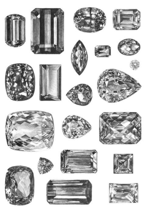 Things Organized Neatly Diamond Beautiful Jewelry Gemstones