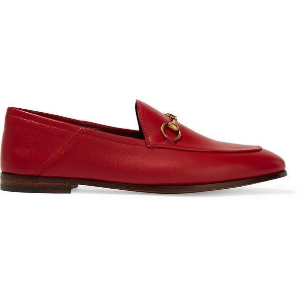 ef5f0628d54942 Gucci Horsebit-detailed leather loafers (42.515 RUB) ❤ liked on Polyvore  featuring shoes