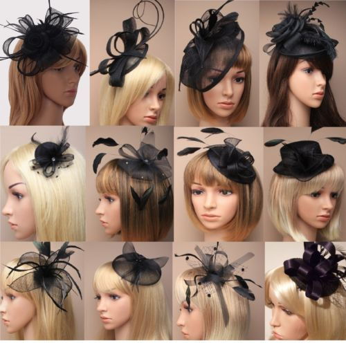 Ascot Races Funeral Black Flower Hat Hair Fascinator Clip Comb Headband Options Hat Hairstyles Fascinator Hairstyles Fascinator