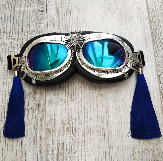 Steampunk goggles festival accessories punk geek rave cosplay costume halloween party