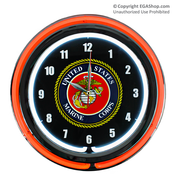 Marines Wall Clock Neon Show Your Pride With This Marines Wall