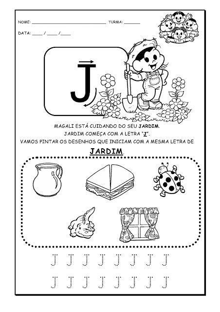 Alfabetizando Com Monica E Turma Alfabeto Atividades Parte 1