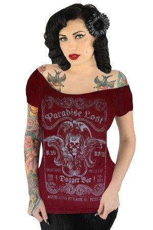 http://www.rebelcircus.com/women-s-off-shoulder-tee-paradise-lost.html