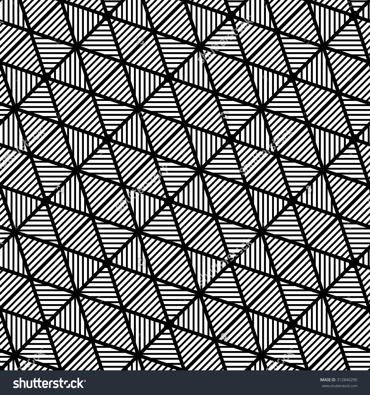 Abstract Geometric Black And White Seamless Pattern. Banco de ilustração vetorial 312840290 : Shutterstock