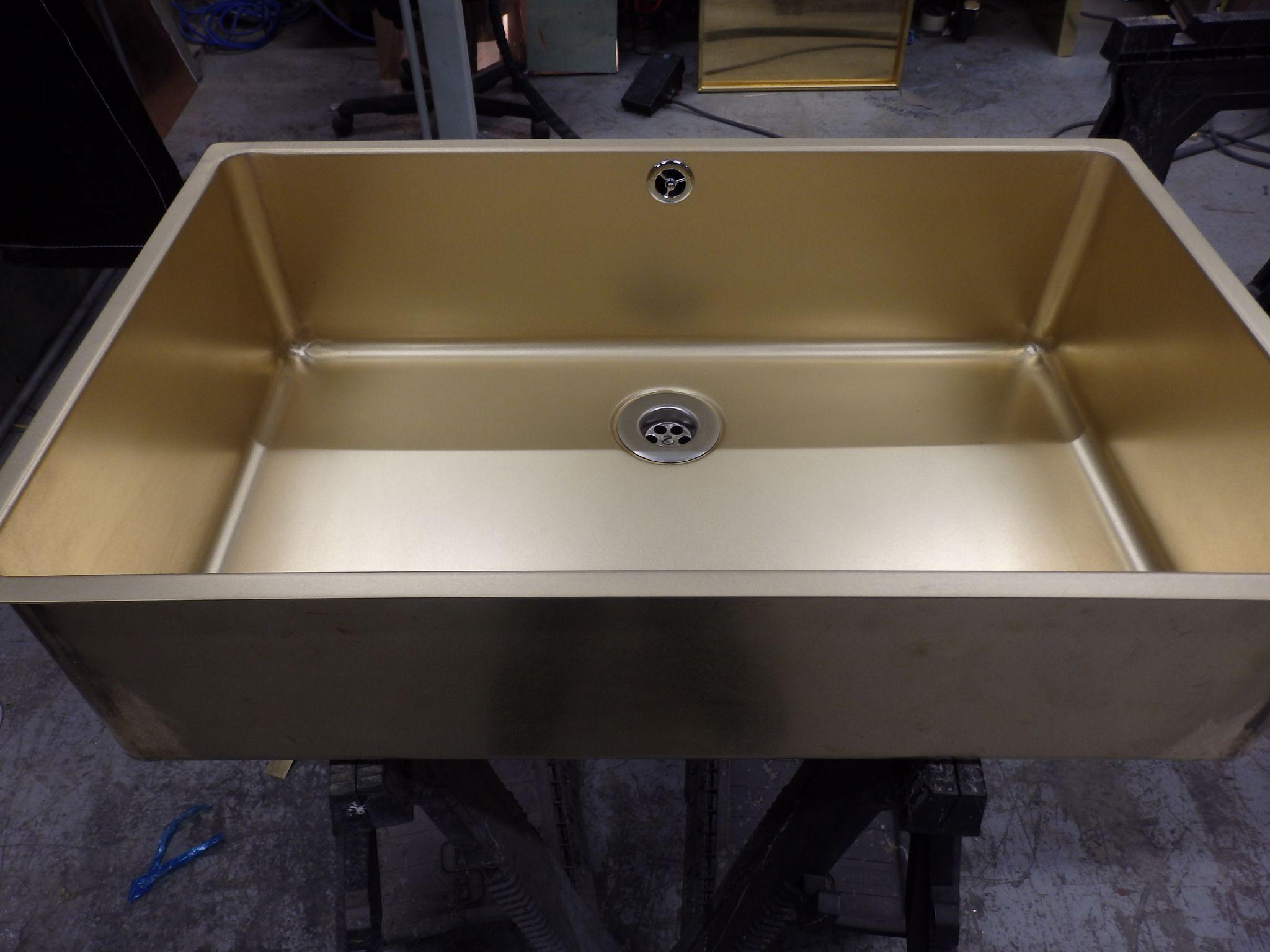 135 Bespoke Natural Brass Drop In Sink Unit Sink Units Sink Drop In Sink