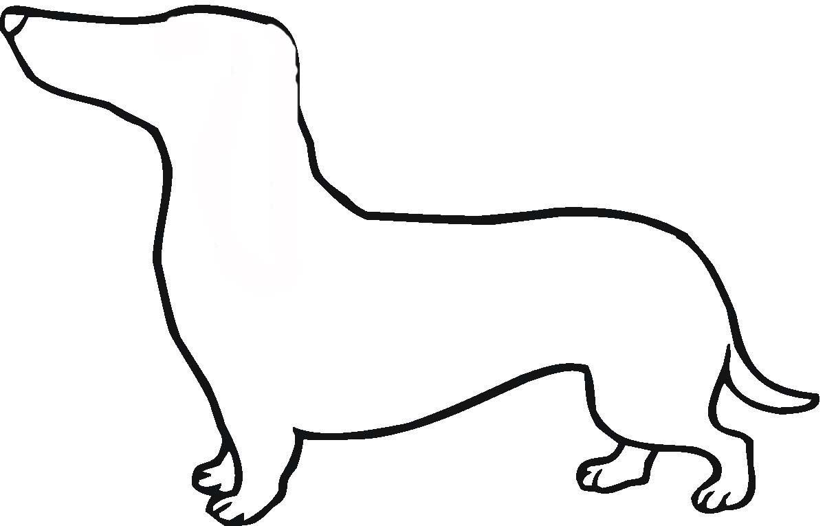 Dachshund Cartoon Free Download Clip Art Free Clip Art On Dog Outline Dog Template Dachshund Colors
