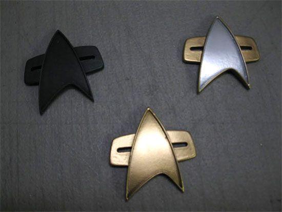 Star Trek:Voyager Metal Communicator Pin /& Soundboard