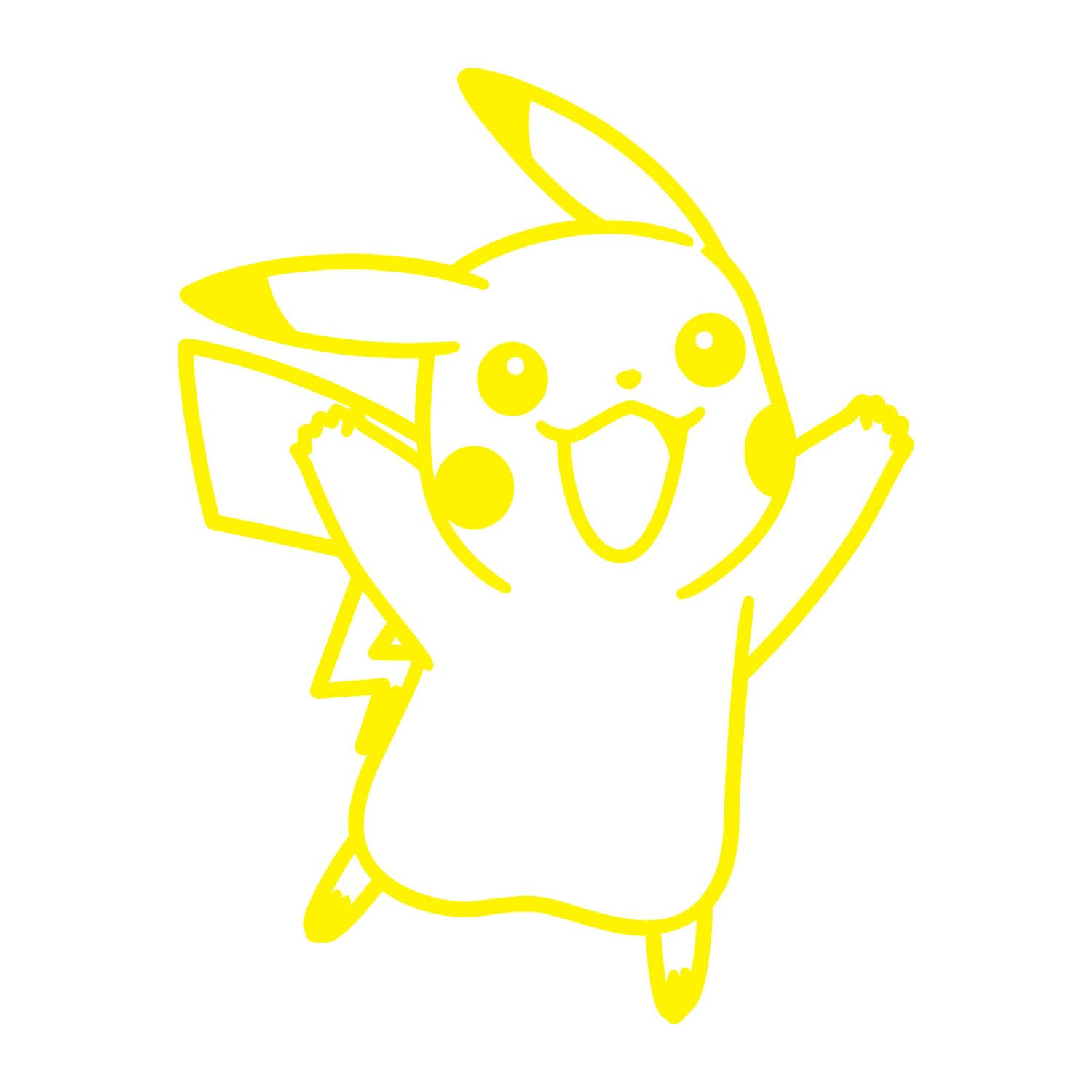 Pokemon Pikachu Silhouette Peel And Stick Wall Decals Peel And Stick Decals The Mural Store