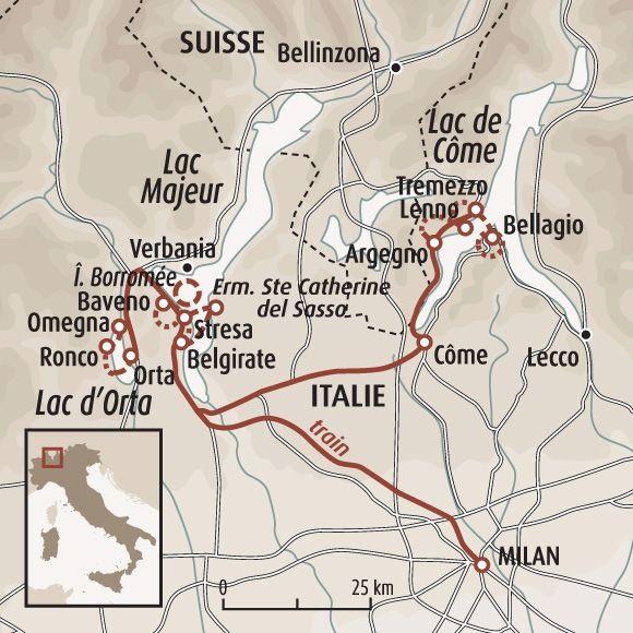 les lacs italiens carte Trilogie des lacs : Côme, Majeur et Orta en 2019 | Voyage italie
