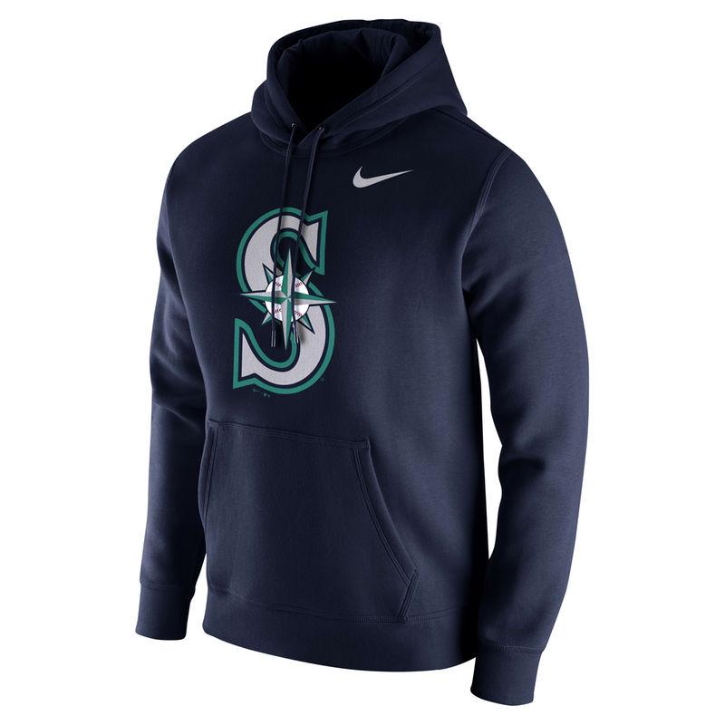 sale usa online great look run shoes Seattle Mariners Nike Club Hoodie - Navy | Hoodies, Nike men ...