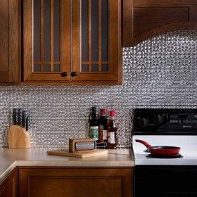 Fasade Backsplash Terrain In Brushed Aluminum Decorative Tile