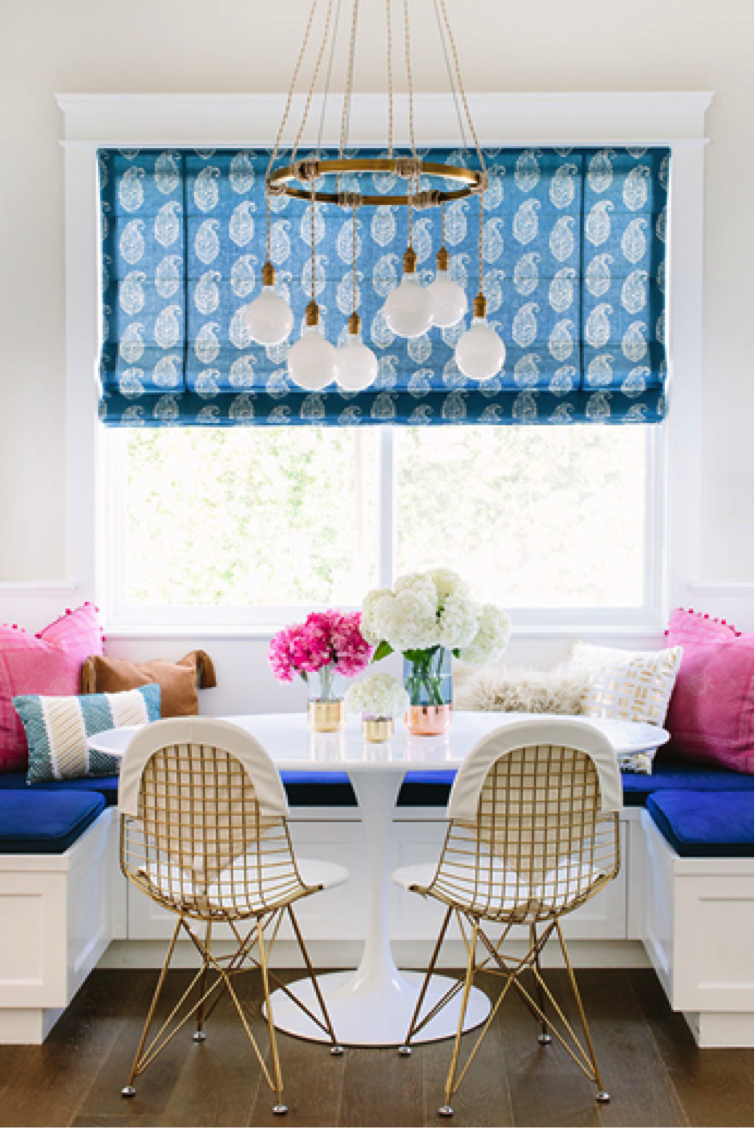 Kitchen nook window treatments  opt for bold window treatments to create a wow factor image source