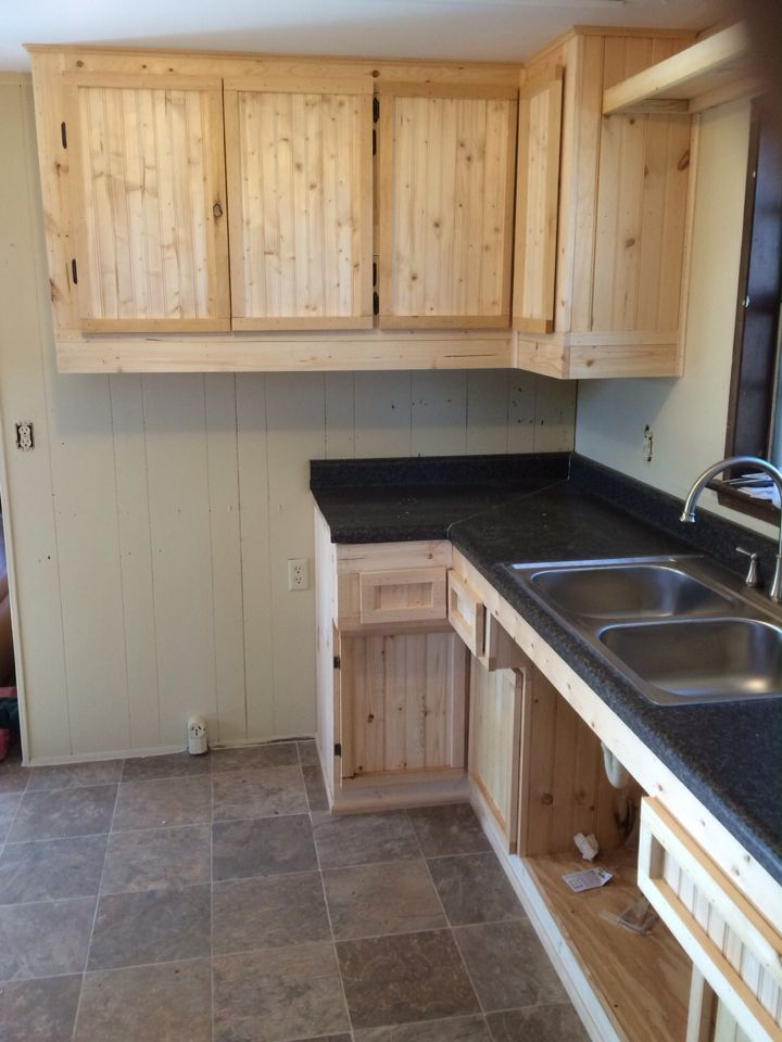 Rustic Pine Cabinets Made By Ethan Diy Homemade Rustic
