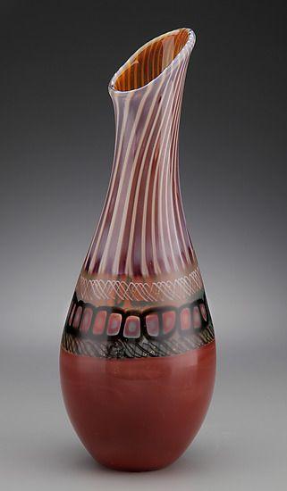 African Daisy Vase Scott Simmons Art Glass Vase Artful Home