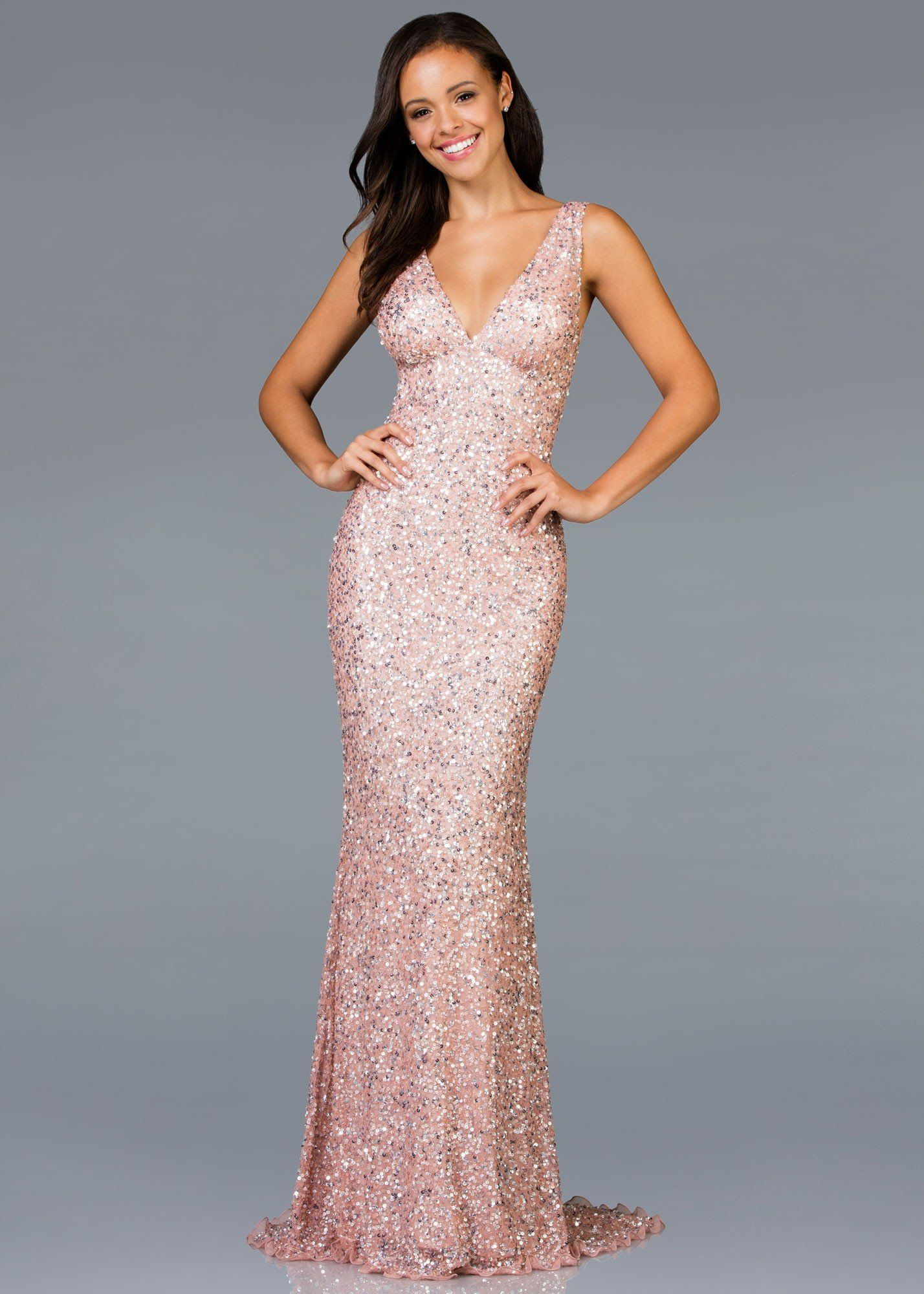 dab0dbc91da Scala 48883 Open Back Sequin Gown in 2019
