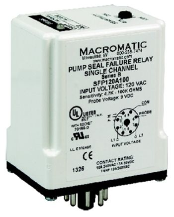 Macromatic Sfp120a100 Pump Seal Failure Relay Relay Electrical Panel Seal