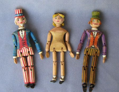Some more of my Vintage styled all wood jointed character dolls...