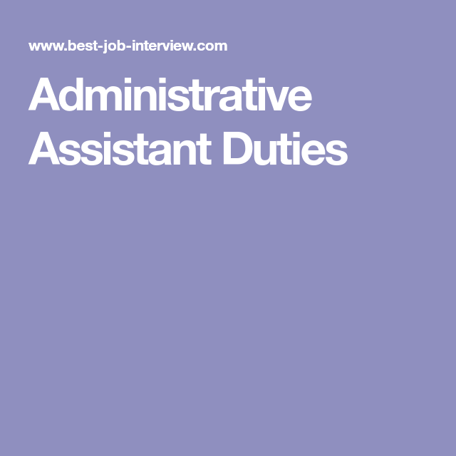 Administrative Assistant Duties | Marketing | Pinterest ...