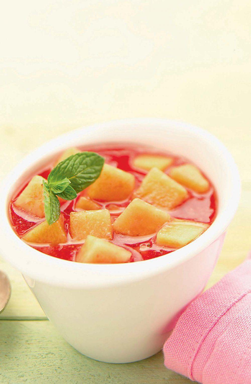Soupe de pastèque au melon jaune | Recette | Soupe de ...
