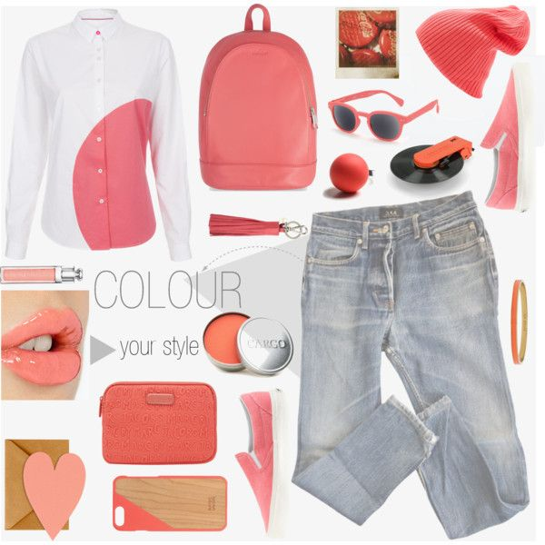 Colour Your Style by helia on Polyvore featuring moda, A.P.C., Paul Smith, Vans, Kipling, Hring eftir hring, Kate Spade, Zara, MARC BY MARC JACOBS and Native Union
