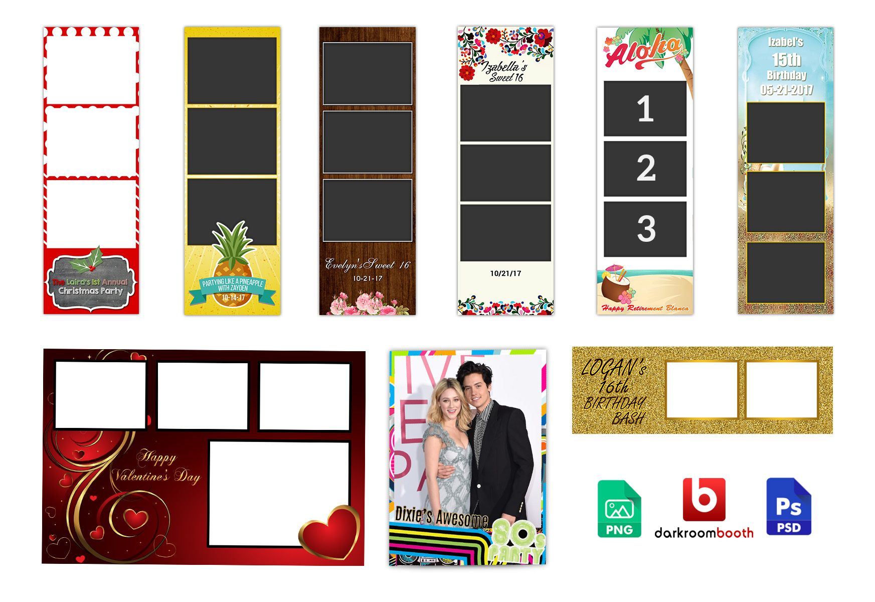 Khairuzzaman I Will Design Photo Booth Template Photo Sripe Xbdr Png For 10 On Fiverr Com Photobooth Template Photo Booth Postcard Design
