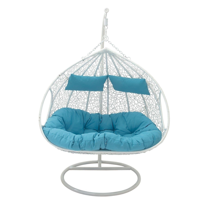 Ud x ud large white u aqua outdoor double pod lounge chair w