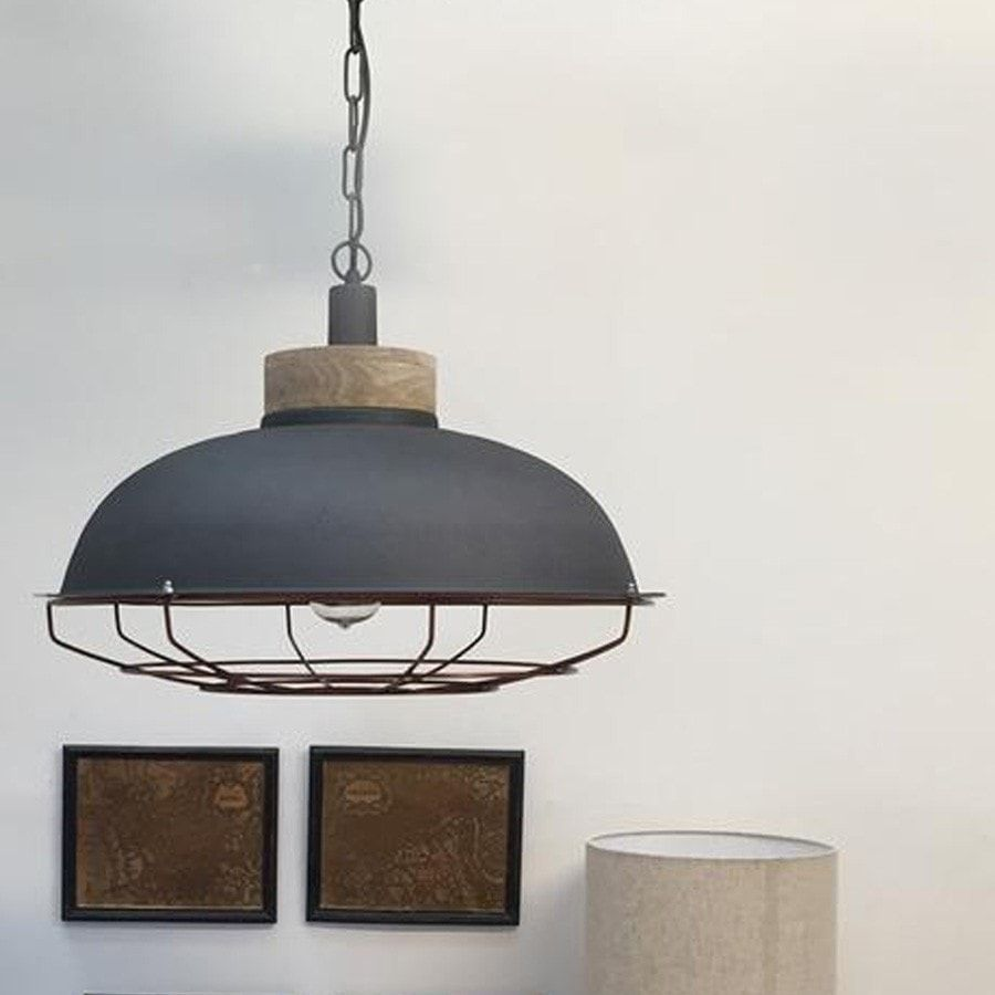 Industrial metal pendant light in charcoal copper industrial industrial metal pendant light in charcoal arubaitofo Images