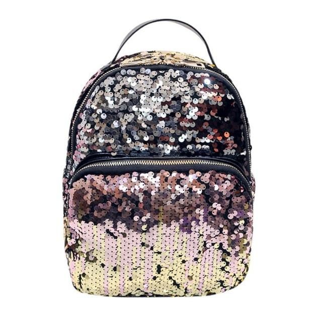 dc5f130ef7 women s backpack School Bag Sequins Travel Bags Ladies Backpack mochila  feminina  LRYW