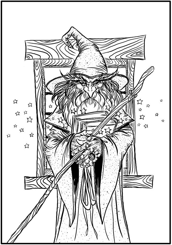 Creative Haven Fantasy Designs Coloring Book Author Aaron Pocock Dover Publications COLORING PAGE 1
