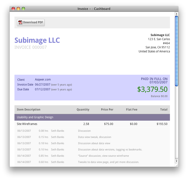 free invoice website