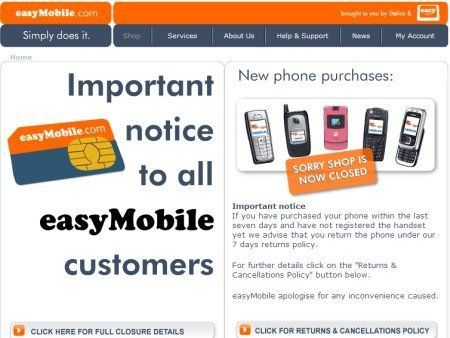 easyMobile shuts up shop | Partner company withdraws from the UK Buying advice from the leading technology site