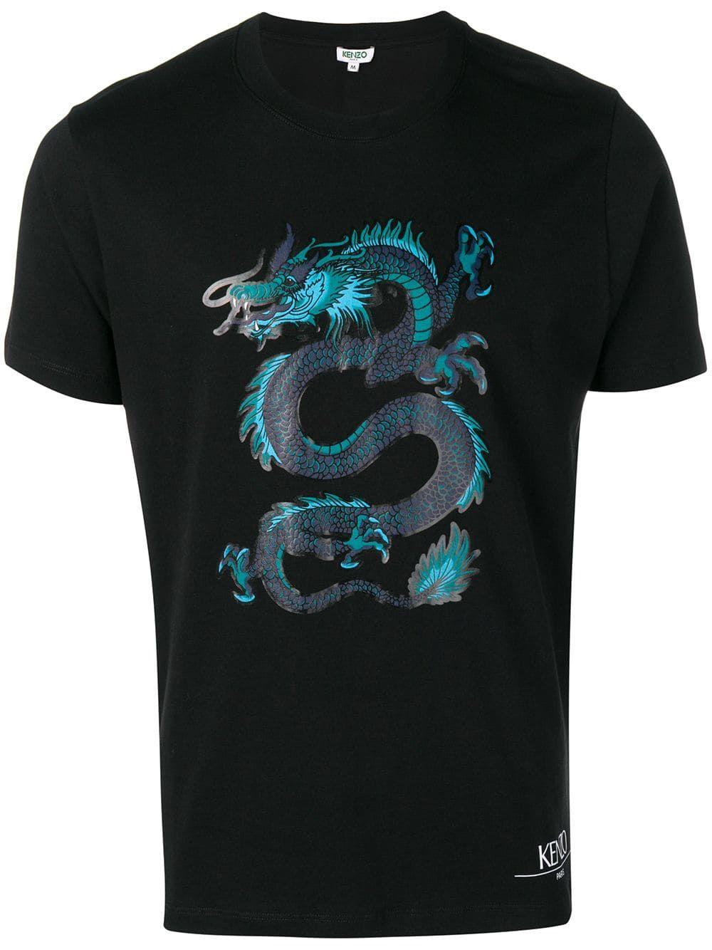 c641da594 KENZO KENZO DRAGON PRINT T-SHIRT - BLACK. #kenzo #cloth | Kenzo in ...