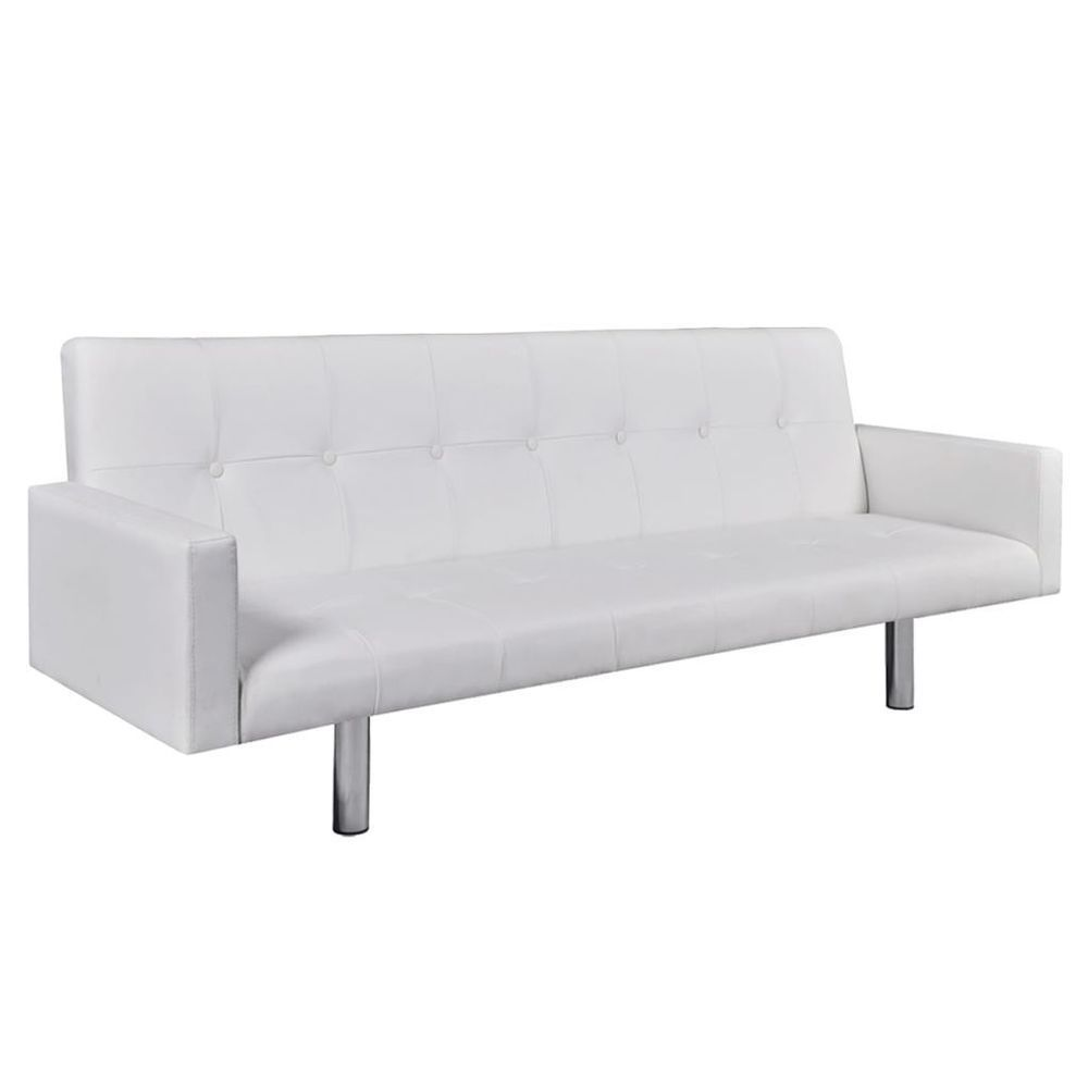 Sofa Bed Couch Leather Sectional White Sleeper Living Room ...